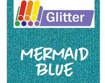 Siser Glitter Heat Transfer Vinyl - Iron On - HTV - Mermaid Blue