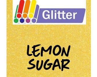 Siser Glitter Heat Transfer Vinyl - Iron On - HTV - Lemon Sugar