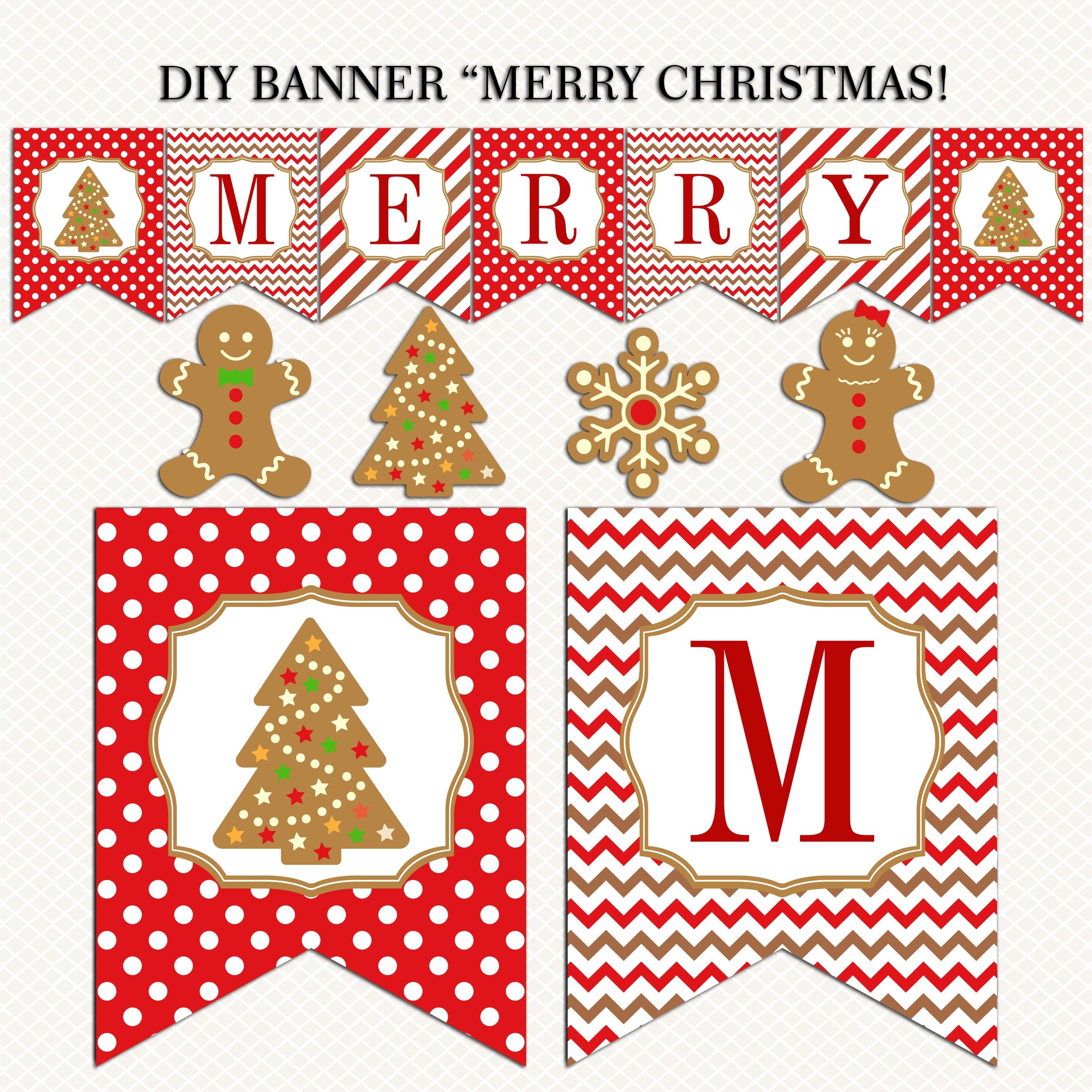 graphic about Free Printable Christmas Banner known as Xmas Pennant Banner Merry Xmas And Content Clean