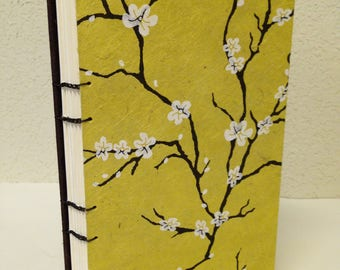 """8.5"""" x 5"""" Peach Blossoms on Yellow Large Book"""