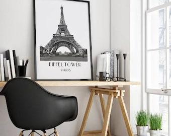 Eiffel Tower art print, Paris Art Print, Eiffel Tower poster, Paris Art, French buildings, Eiffel Tower poster, instant download art