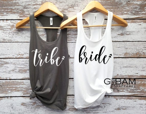 Bride tank top / Tribe tank top / Arrows / Bridal Party Tank tops / Bridesmaid Tank / Maid of Honor Tank
