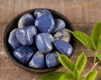 Two Tumbled DUMORTIERITE QUARTZ Crystals - Blue Quartz Dumortierite Crystal, Tumbled Stone, Healing Stone, Polished Stone E0492