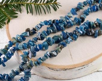 "34"" BLUE APATITE Chip Necklace - Blue Apatite Bead Necklace, Blue Apatite Jewelry, Blue Apatite Necklace, Apatite Crystal Jewelry E0827"