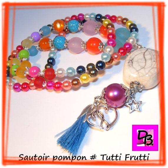 Sautoir pompon [Tutti Frutti]