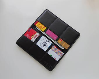 Leather wallet Classic Black