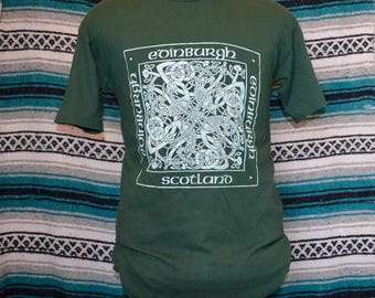 90s Screen Stars Single Stitch Shirt Edinburgh Scotland Green Scottish Medium M