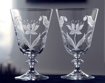 Strawberry Thief - engraved glass