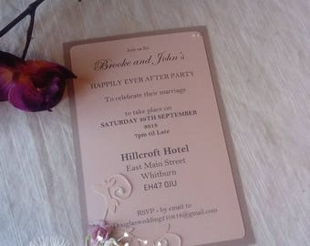 Postcard Wedding Invitation Sample Bespoke and Personalised in you colours