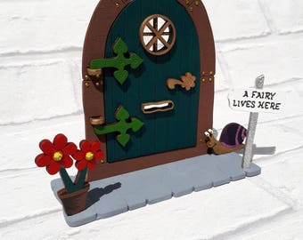 Opening Fairy Door Handpainted embellished Glitter Fairy, elf door, Shelf Sitter, Room Decor, Fairy Kit, Fairy Accessories, Role Play gift
