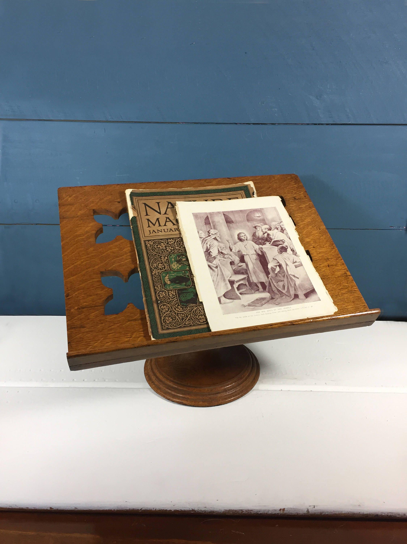 vintage wood book stand bible stand desktop lectern speaker