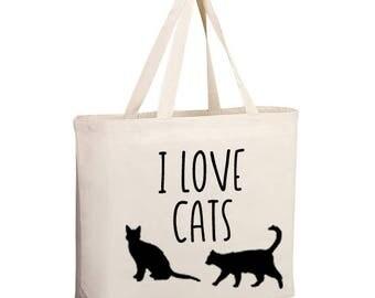Crazy cat lady bag, I love cats market bag, cat lady bag, cat lady tote, cat lady bag, market bag, cat market bag, cat tote bag