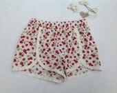 Girls Summer Shorts Strawberry Shorts Girls clothing Coachella Shorts Toddler 214 years Handmade Holiday
