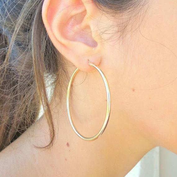 Gold Hoop Earrings Extra Gold Hoops 2mm
