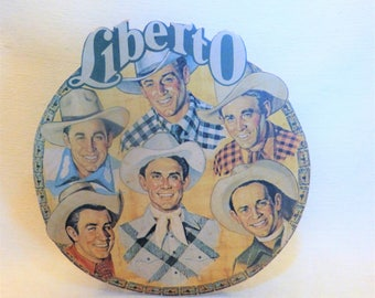 Liberto 1940s Advertising Board, Cowboys Stand-up Board