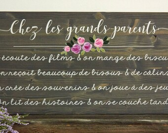 Grandparents rules with grandparents, gift for grandparents, gift from grandchildren.
