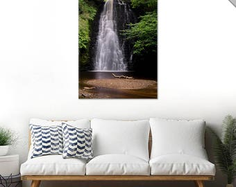 Limited Edition 1/1 Wall Art Print - Whitby Yorkshire Waterfall Photography - Expensive Museum Quality Canvas Signed And Numbered By Artist.