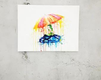 Originale Malerei von Buttafly ( Vanessa Brünsing ) - Wolke 7 - 2017 -  60 cm x 80 cm - Kunstwerk