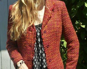 80's women's blazer/BRIGGS New York blazer/vintage blazer/office attire/80's blazer/women's blazer/office blazer