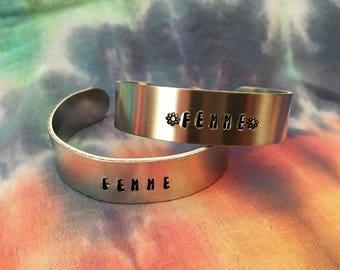 Flower Femme 5/8ths Inch Bracelet - Femme Bracelet - Queer Femme Bracelet - WLW Bracelet - Femme AF Bracelet
