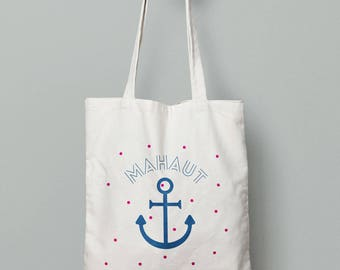 Tote bag personalized - Navy, diaper bag, personalized bag surname
