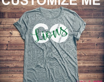 Personalized Baseball Shirt, School Spirit Shirt,  Baseball Mom, Shirt, Baseball Wife, Game Day Shirt, High School, Sports Mom Shirt