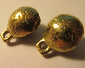 Brass Temple Bell Charms, 17mm, Set of 2