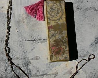 Necklace beads, necklace, long necklace retro romantic rose, concrete,