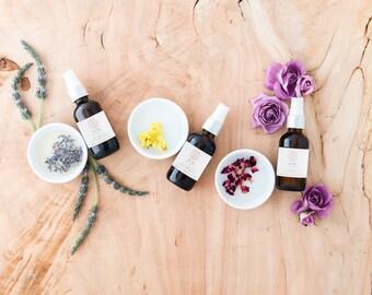 organic rose hydrosol//rose dew