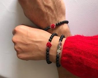 Couples Bracelets, Couples Jewelry, Personalized Bracelet, Lovers Bracelet, Best Friend Bracelet, Friendship Bracelet, Valentine's Day Gift.