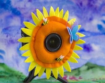 Photographer Helper, Camera Lens Buddy - Sunflower