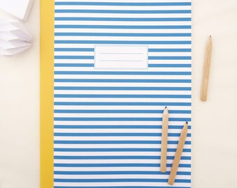 Large book sailor 20x28cm with blue and white stripes