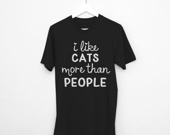 Animals are Friends shirts, I Like Cats More than People T Shirt, Cat Lady and Animal Lovers Shirt