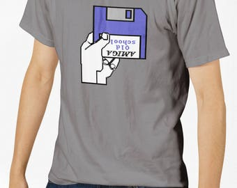 Retro Video Game T-Shirt - Amiga Disk