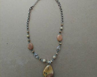 Vintage Earth Stone Necklace