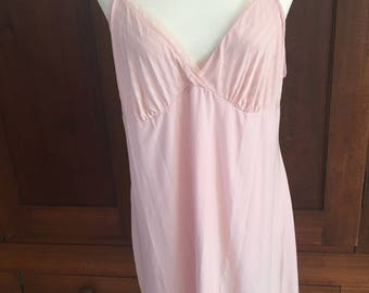 2X / Gilligan & O'Malley Nightgown / Pink / Slip Dress Gown / XXL / Extra Extra Large / Plus Size
