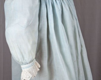 ANTIQUE DRESS 1900's Victorian Childs Girls DRESS Long Gown Light Blue Early American
