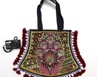 Handmade Ethnic Designer Tribal Banjara Patchwork Embroidered Hippy Fashionable Stylish Trendy Hippie Gypsy Boho Bohemian Fancy Bag G277