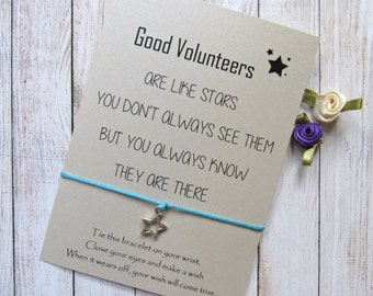 Volunteer Thank You, Volunteer Gifts, Gift for Volunteer, Volunteer Appreciation Gifts, Wish Bracelet Friendship Bracelet, Appreciation Gift