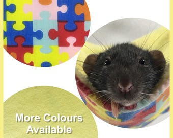 Rat Hammock, Jigsaw, yellow hammock for rats, small pet accessories, ideal for rats, hamsters, mice