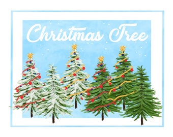 Christmas Tree - Digital Print - Printable - Clipart - Scrapbook - High Resolution - Instant Download - Christmas Decoration - Holiday