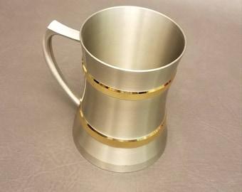 Vintage Penang Pewter 97% Malaysia Coffee Mug, Beer Mug