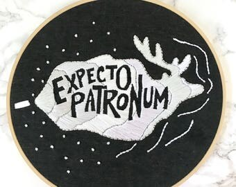 Expecto Patronum Harry Potter Embroidery Pattern DIY, Downloadable PDF