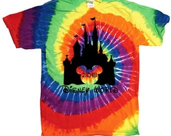 Walt Disney World family vacation 2018 t shirt tie dye matching tee's magic kingdom epcot disney hollywood studios animal kingdom