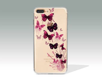 iPhone 7 Plus Case Butterfly iPhone 7 Cases, iPhone 7 Plus Cases, iPhone 6 Case iPhone 6s Case Silicone iPhone Cases Christmas Gift // 216