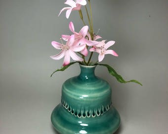 Small Ceramic Bud Flower Vase