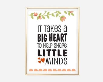 Pre K Quotes Interesting Small Minds  Etsy