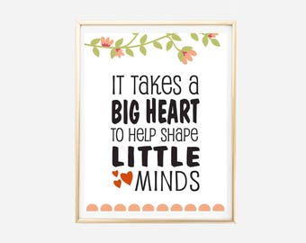 Pre K Quotes Inspiration Small Minds  Etsy