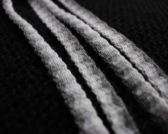 Grey gradient zigzag pattern handwoven trim, viking belt, medieval woolen ribbon, pagan hippie boho headband, larp costume accessory, band