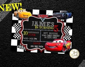 CARS 3 Birthday Invitation, CARS 3, cars invitations, cars invitation, cars birthday, cars disney 3, cars disney invitation, cars party,cars